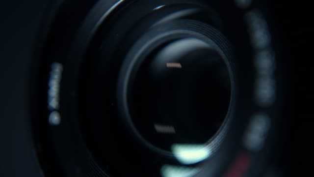 close-up of a working camera lens - performing arts event stock videos & royalty-free footage