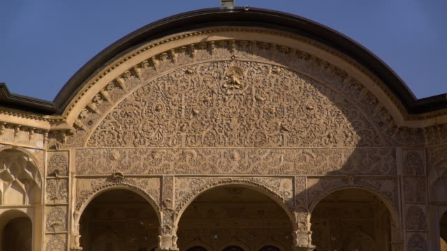 closeup of above arch of the borujerdi house - intricacy stock videos & royalty-free footage