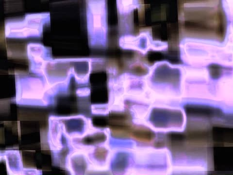 vídeos de stock, filmes e b-roll de close-up of abstract graphics glowing on a black background - superexposto
