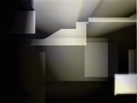 vidéos et rushes de close-up of abstract graphics on a screen - fondu d'ouverture