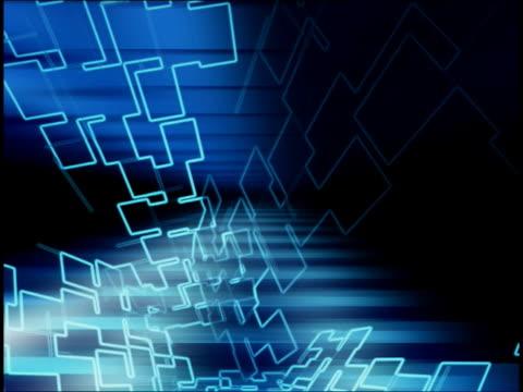 vídeos de stock, filmes e b-roll de close-up of abstract graphics spinning - concêntrico