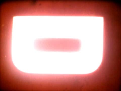 close-up of alphabets on a film leader - abblenden stock-videos und b-roll-filmmaterial