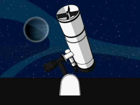 close-up of an astronomy telescope and a globe spinning - astronomy telescope stock videos & royalty-free footage