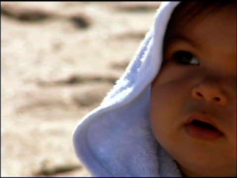 close-up of baby outdoors - only baby girls stock videos & royalty-free footage