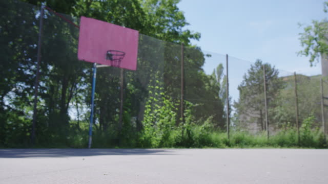 close-up of ball on basketball court - basket stock videos & royalty-free footage