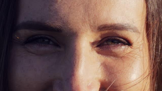 Closeup of beautiful female eyes