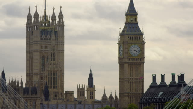 close-up of big ben clock tower in london, england. - tower of london stock videos and b-roll footage