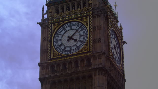 close-up of big ben dial - clock hand stock videos and b-roll footage