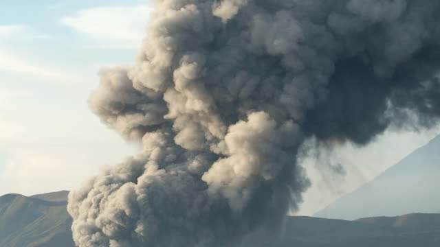 Close-up of Bromo Volcanic Smoke, Indonesia