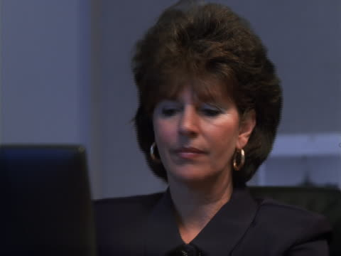close-up of businesswoman - only mature women stock videos & royalty-free footage