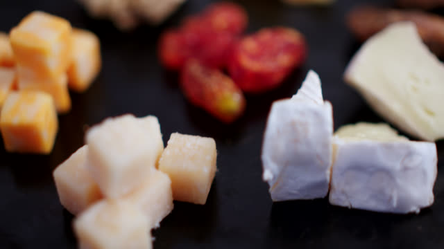 close-up of cheese - brie stock videos & royalty-free footage