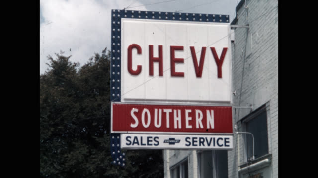 close-up of chevrolet commercial sign - car showroom stock videos & royalty-free footage