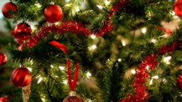 Closeup of Christmas Tree, jib up
