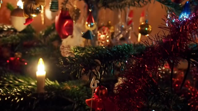 Nahaufnahme der Weihnachtsbaum.