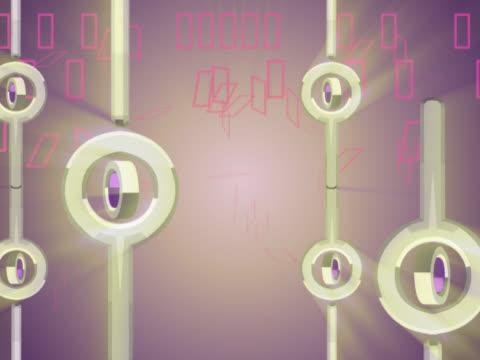 close-up of circles rotating - 少数の物点の映像素材/bロール