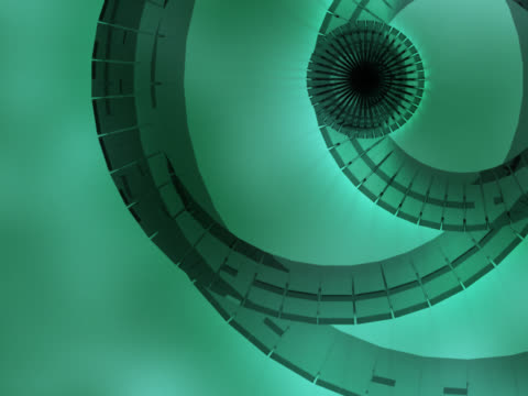 stockvideo's en b-roll-footage met close-up of circles spinning on a colored background - vier dingen