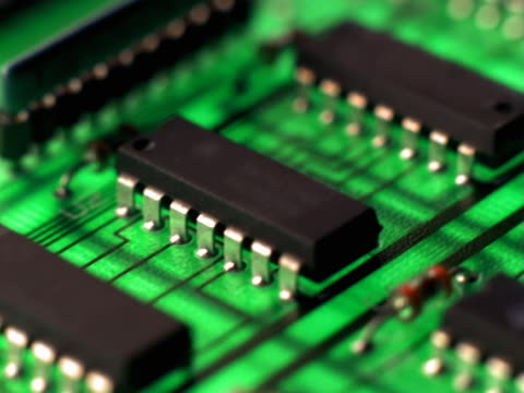 close-up of circuit board - mpeg video format stock videos & royalty-free footage