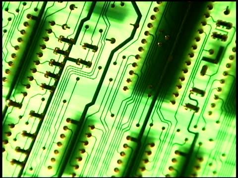 close-up of circuit board - getönt stock-videos und b-roll-filmmaterial