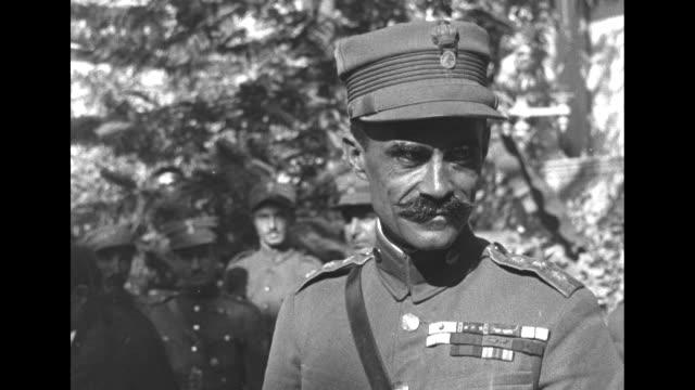 Closeup of Colonel Nikolaos Plastiras of Greece