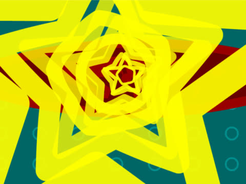 close-up of concentric stars - concentric stock videos & royalty-free footage