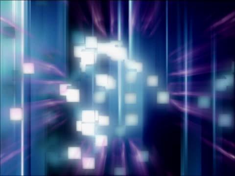 vídeos de stock, filmes e b-roll de close-up of cubes spinning - concêntrico