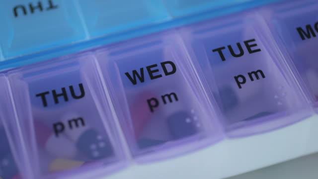 Close-Up of daily pill box