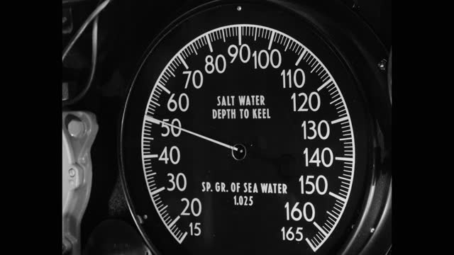 close-up of depth indicator of submarine - gauge stock videos & royalty-free footage