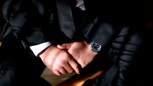 close-up of elegance male hands - cravat stock videos and b-roll footage
