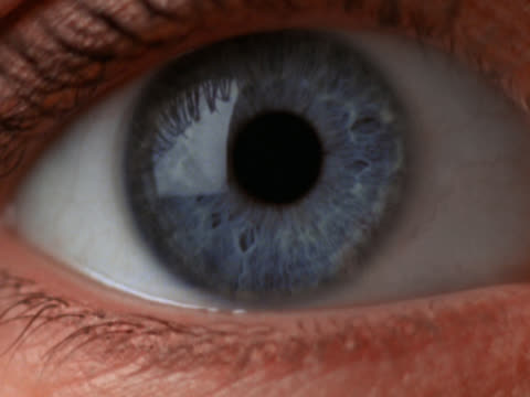 closeup of eye opening and closing - mpeg video format stock videos & royalty-free footage