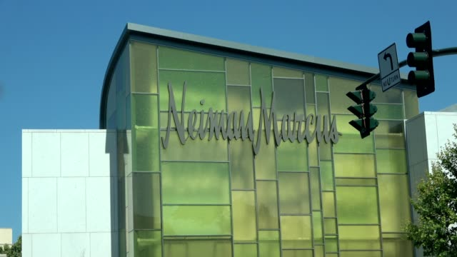 closeup of facade of neiman marcus department store in downtown walnut creek california may 21 2018 - neiman marcus stock videos & royalty-free footage
