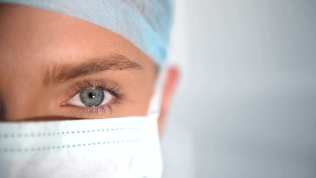 Close-up of female surgeon eye
