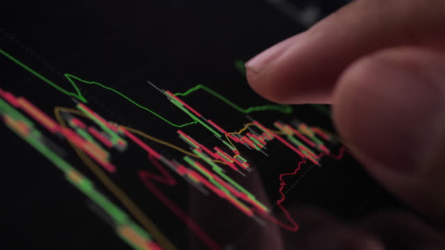close-up of financial analysts see charts and graphs on digital tablet - financial occupation stock videos & royalty-free footage