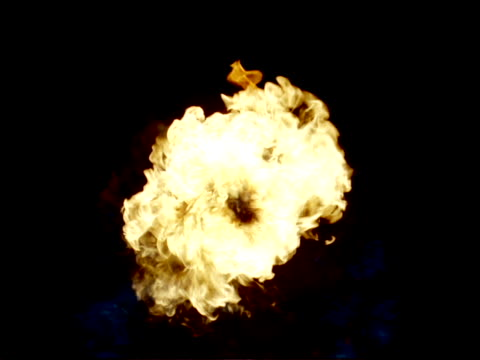 Close-up of flamesFire being blown toward camera
