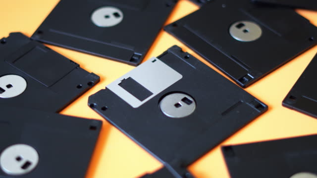 close-up of floppy discs - disk stock videos & royalty-free footage
