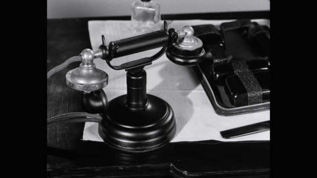 close-up of french telephone on desk, paris, france - landline phone stock videos & royalty-free footage