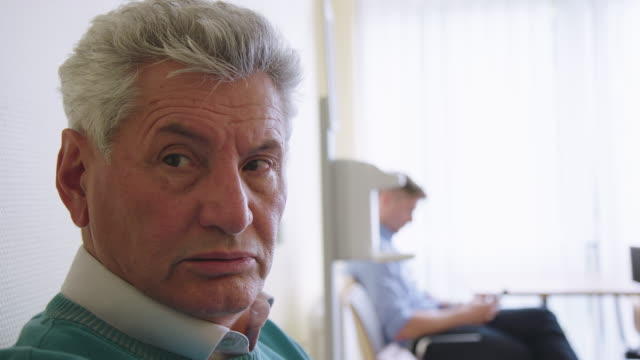 close-up of furious senior patient at hospital - waiting room stock videos & royalty-free footage