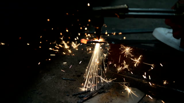 Close-up of gas welding