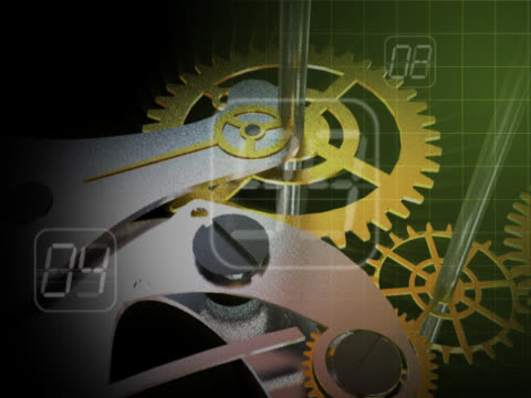 close-up of gears of a clock spinning - intricacy stock videos & royalty-free footage
