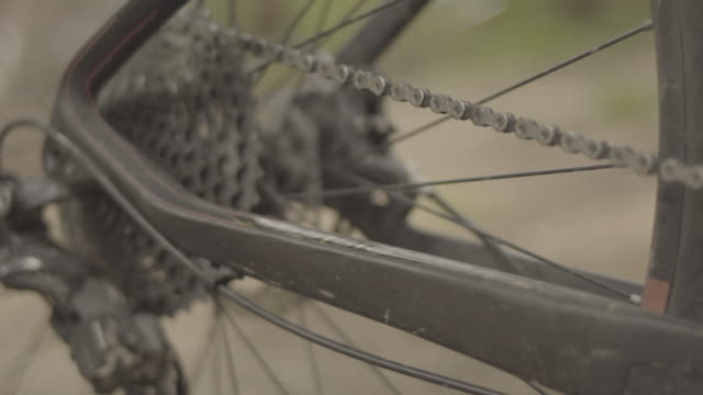close-up of gears on mountain bike - mountain bike stock videos and b-roll footage