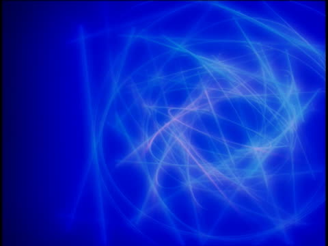 close-up of glowing circles and rectangles spinning - manipolazione di colore video stock e b–roll