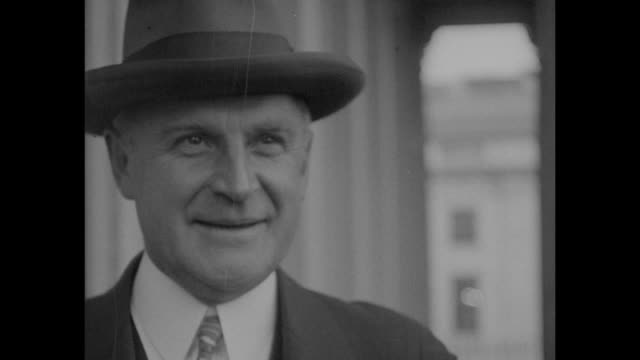 Closeup of Gov Alvan Tufts Fuller wearing hat / Note exact month/day not known