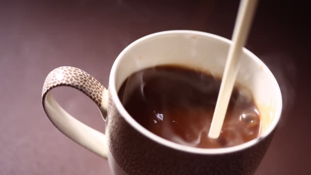 Close-up of hot coffee