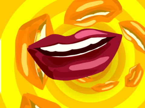 close-up of human lips - lips stock videos & royalty-free footage