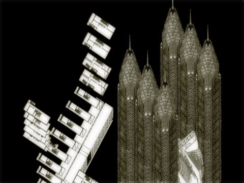 vídeos de stock, filmes e b-roll de close-up of industrial buildings - desaparecer gradualmente