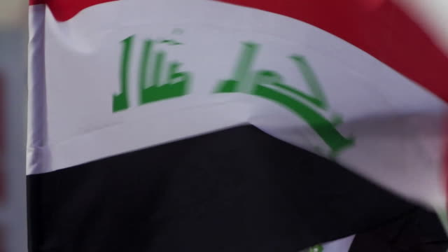 close-up of iraqi flags in baghdad - baghdad stock videos & royalty-free footage
