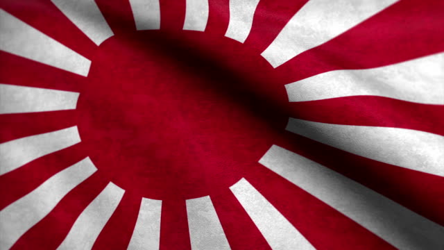 Close-up of japanese flag waving in the wind