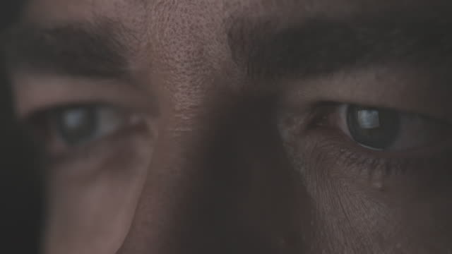 close-up of male eyes - reflection stock videos & royalty-free footage