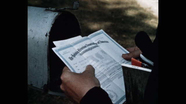 close-up of man checking letter - letterbox stock videos & royalty-free footage