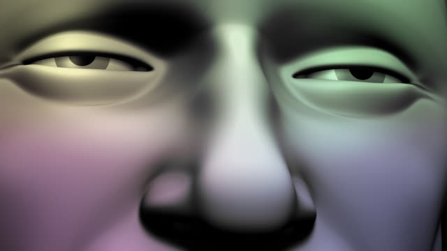 close-up of man's face - 3d human face stock videos & royalty-free footage
