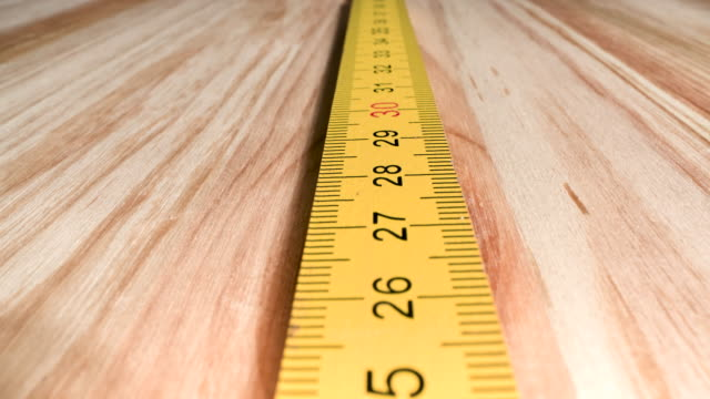 close-up of metric ruler - meter instrument of measurement stock videos & royalty-free footage